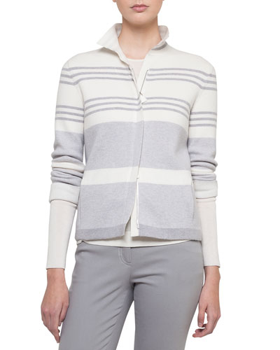 Cashmere-Silk Long-Sleeve Pullover and Matching Items