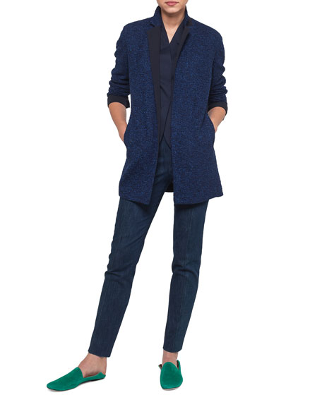 Boucle Tweed Long Jacket