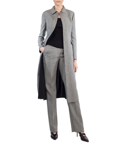 Reversible Long Wool-Blend Coat and Matching Items
