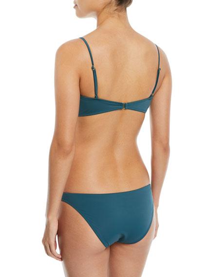 Tie-Front Solid Swim Top
