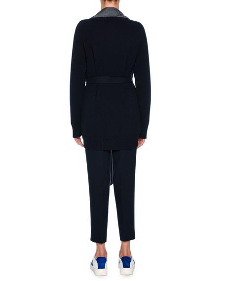 Double-Face Cashmere Jacket, Dark Blue