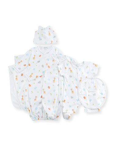 Safari Stroll Print Pima Footie Pajamas, Size Newborn-9M and Matching Items