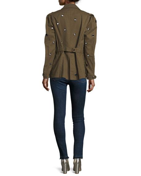 Kate Raw-Hem Skinny Jeans