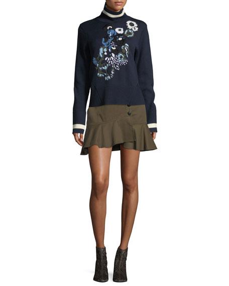 Claremont Canvas Ruffled Skirt