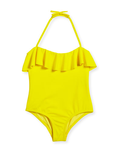 Ruffle Top One-Piece Swimsuit, Size 4-7 and Matching Items