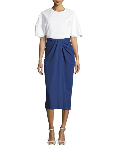 Twist-Front Jersey Midi Skirt and Matching Items