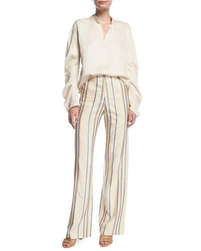 Eda Stripe Wide-Leg Pants  and Matching Items