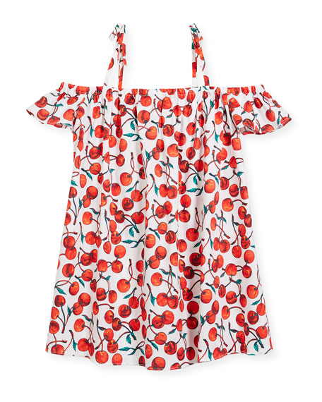 Eden Cherry-Print Coverup Dress, Size 4-7