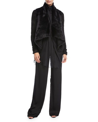 Draped Goat Fur Jacket and Matching Items