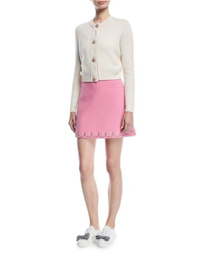 Scallop-Studded Mini Skirt and Matching Items