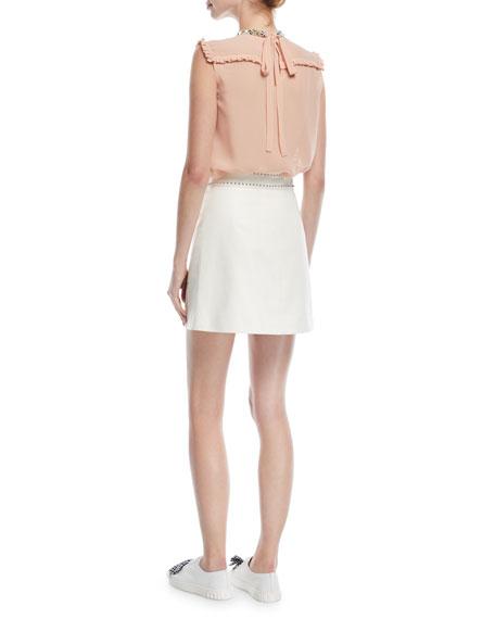 Sleeveless Embellished Silk Georgette Top