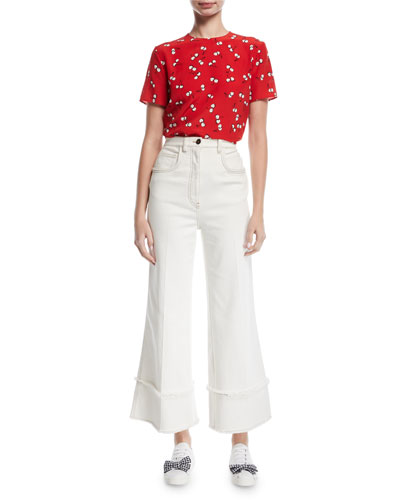 Cropped Wide-Leg Jeans and Matching Items