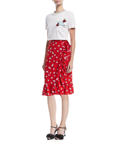 Short-Sleeve Top w/Cherry Applique and Matching Items
