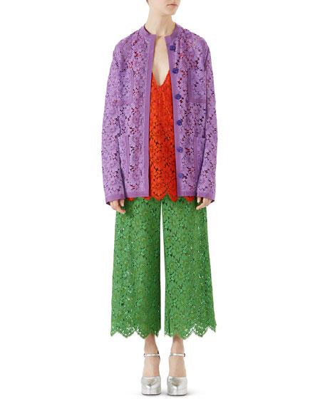 Petal Flower Leaf Lace Jacket