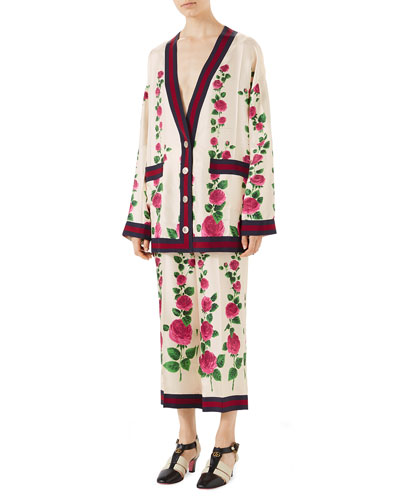Mini Jardin de Rose Cardigan with Web Detail and Matching Items