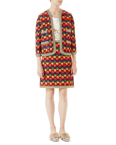 GG Rainbow Velvet Jacket and Matching Items