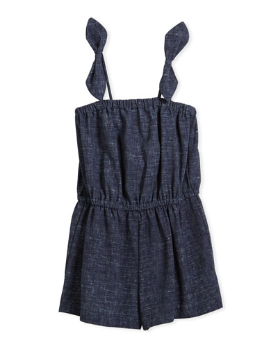 Stretch Crepe Tie Romper, Size 4-7 and Matching Items