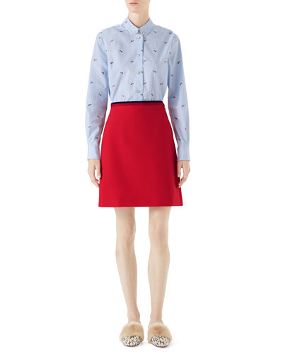 Cady Crepe Wool A-Line Skirt and Matching Items