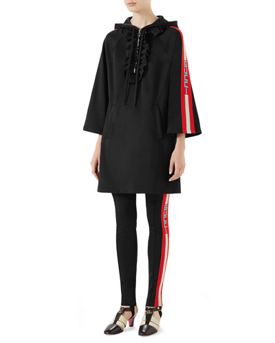 Long-Sleeve Hooded Jersey Track Dress and Matching Items