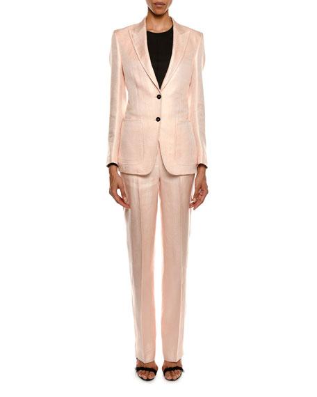 Two-Button Menswear Twill Blazer