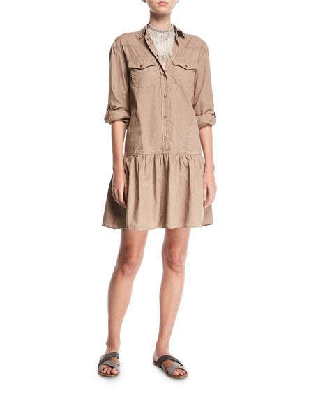 Western-Style Cotton Shirtdress