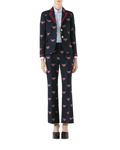 Cotton/Wool Butterfly Fil Coupe Jacket and Matching Items