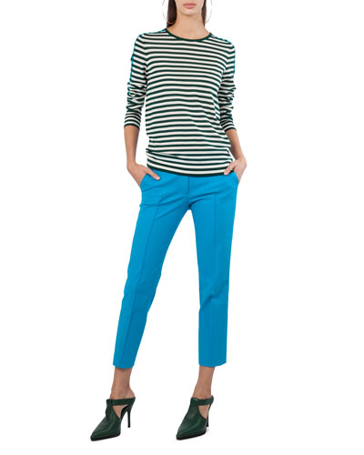 Mixed-Striped Crewneck Top and Matching Items