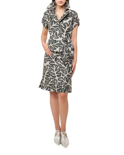 Tropical-Print Safari Jacket and Matching Items