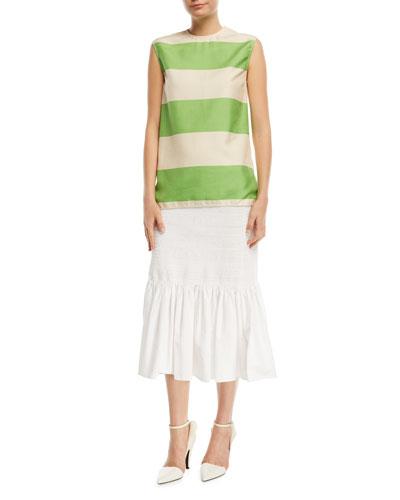 Sleeveless Colorblock Shantung Top and Matching Items