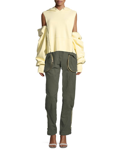 Zip-Pocket Cargo Pants and Matching Items
