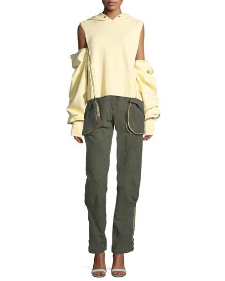 Hoodie Pullover w/Zip-Away Sleeves