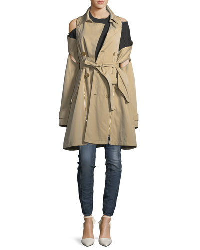 Double-Breasted Gabardine Trenchcoat and Matching Items