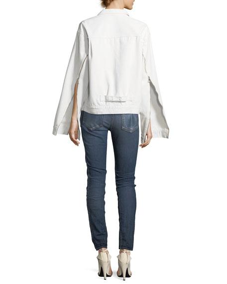 Denim Cape-Sleeve Jacket