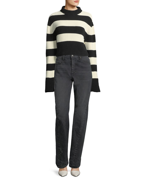 Striped Chunky Knit Sweater