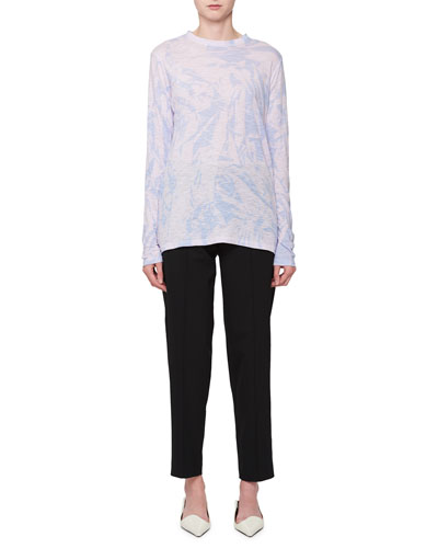 Wool-Stretch Cropped Pants  and Matching Items