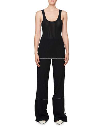 Ribbed Scoop-Neck Tank Top and Matching Items