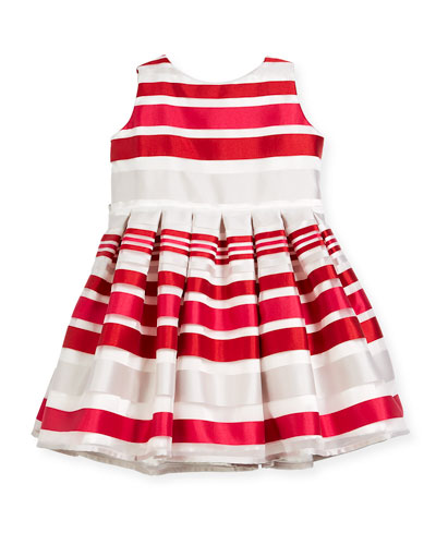 Satin Stripe Dress, Size 12-18 Months  and Matching Items
