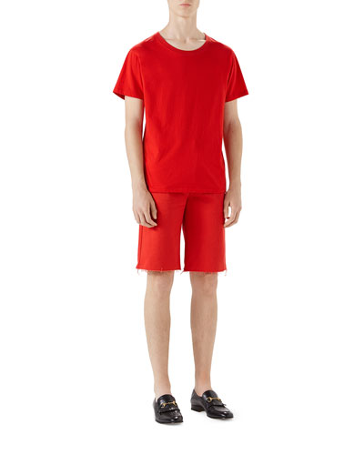 Bleach-Washed Cotton Shorts and Matching Items