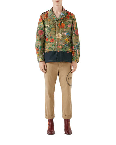 Floral Parka Jacket and Matching Items