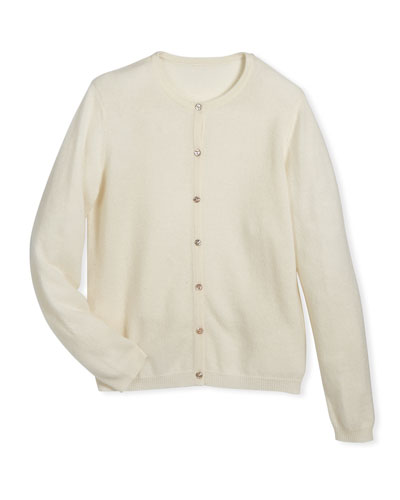 Button-Front Cashmere Cardigan, Size 2-6 and Matching Items