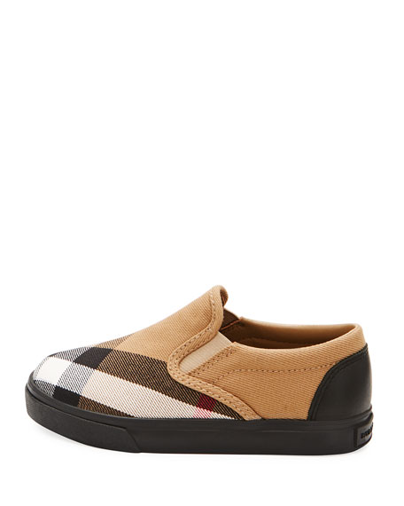 Linus Check Canvas Slip-On Sneaker