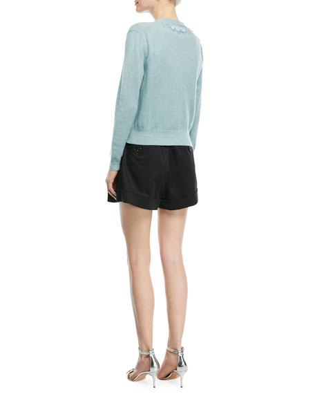 Beaded Wool-Cashmere Cardigan