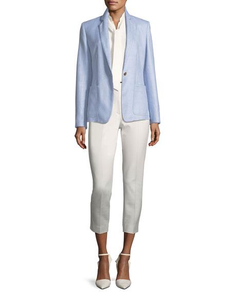 Notch-Collar One-Button Blazer