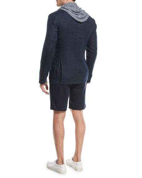Textured Hemp Two-Button Blazer
