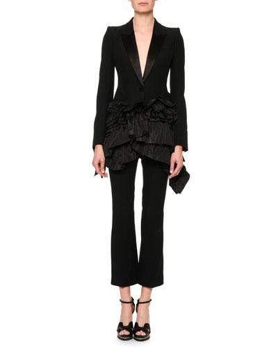 Tuxedo Jacket w/Taffeta Peplum and Matching Items