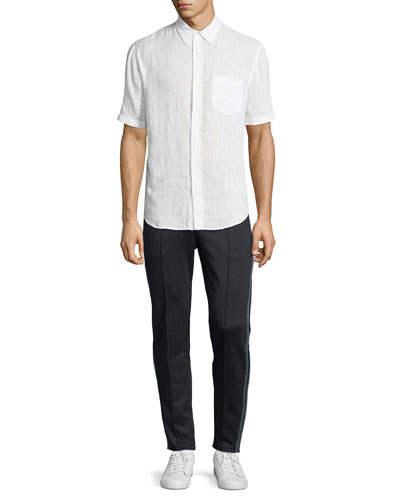 Washed Linen Short-Sleeve Sport Shirt and Matching Items
