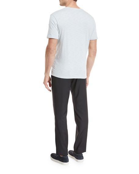 Solid Crewneck Jersey T-Shirt
