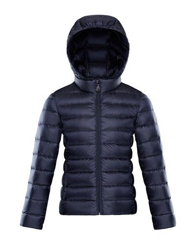 Iraida Hooded Lightweight Down Puffer Jacket, Navy, Size 4-6  and Matching Items