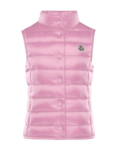 Liane Down Lightweight Down Puffer Vest, Pink, Size 4-6  and Matching Items