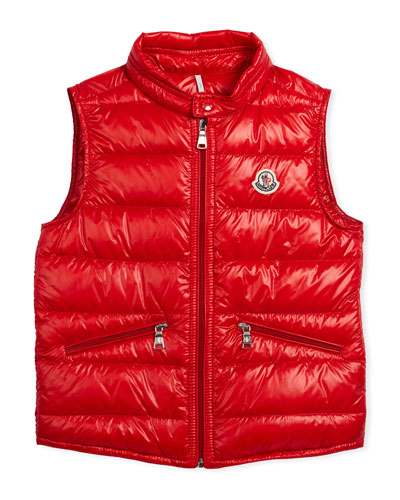 Gui Down Puffer Vest, Red, Size 4-6 and Matching Items